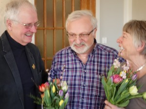 Hedersordförande - och tillika mötesordförande - samt Leif och Inga-Britt Epel